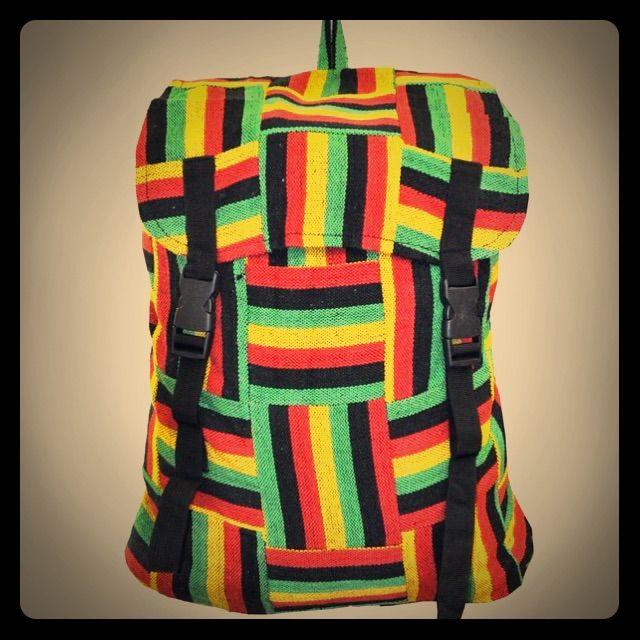 Nwt Mandela Hippie Rasta Hemp Backpack Unisex