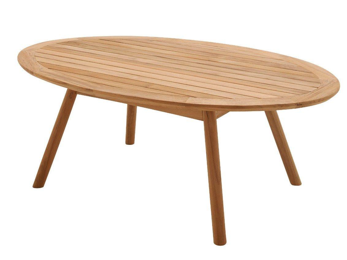 Table basse de jardin ovale en teck DANSK | Table basse en teck - Gloster