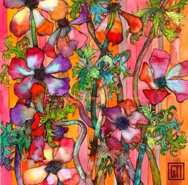 Anemones. Art by Sofía Perina Miller