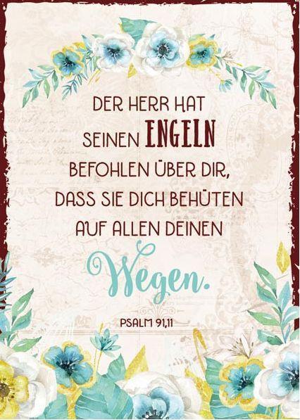 Postkarte Der Herr Hat Seinen Engeln Befohlen Bibelverse Bibel