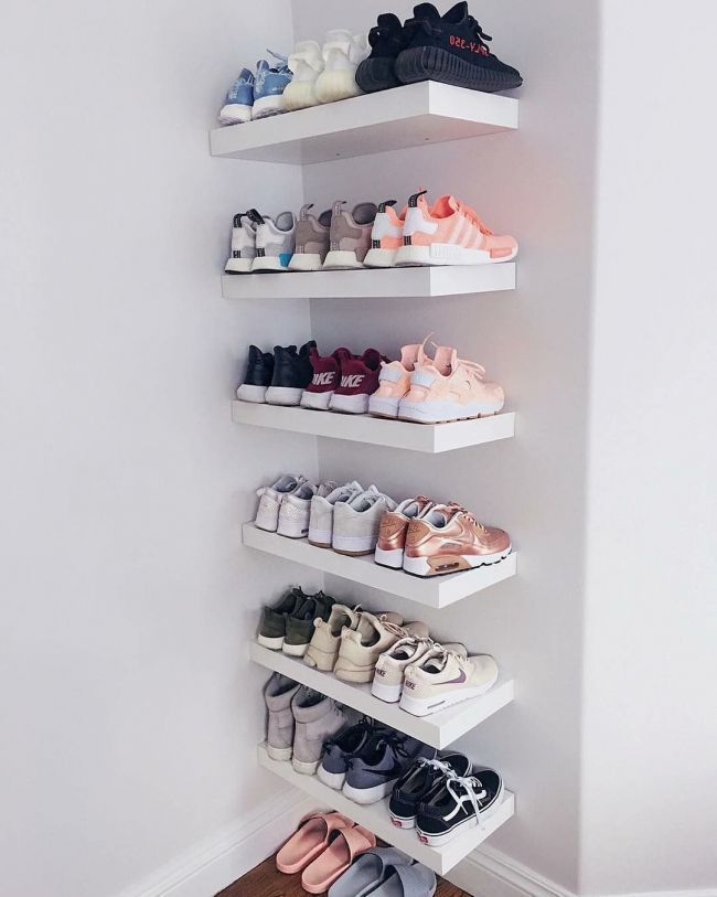 accurate representation of my shoe closet . Bedroom Ideas Pinterest |  Modern Bedroom Furniture  | How To Make A Small Bedroom Work | Pictures Of Fancy Bedrooms. #amazon_bahrain #The Boys Space