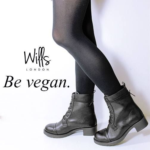 e23d2687f2a8a Wills London s black faux-leather boots will make everyone think you just  stepped off the runway.