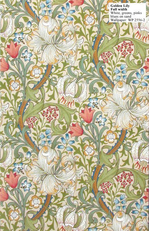 William Morris Golden Lily WP 25562 William morris