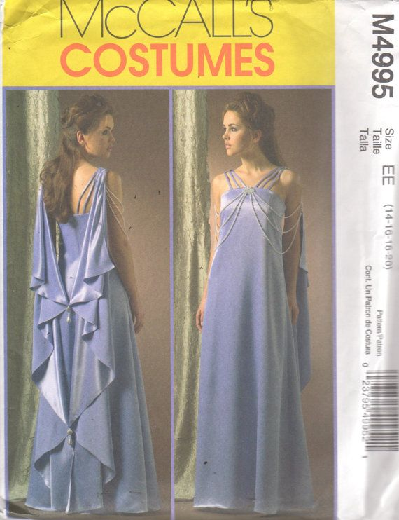 McCalls 4995 Star Wars Cosplay Dress and Drape Pattern Queen Padme ...