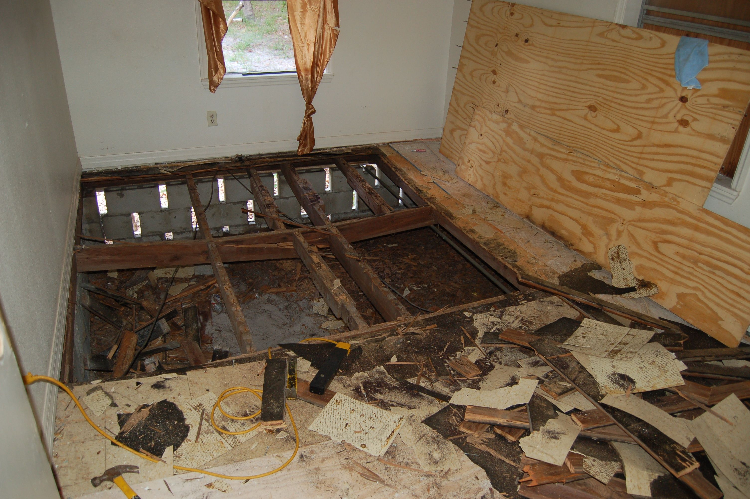 BEFORE older wood frame homes do suffer from subfloor