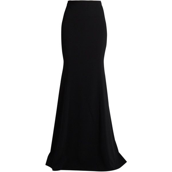 Roland Mouret Aries Double Crepe Maxi Skirt (49,685 DOP) ❤ Liked On Polyvore