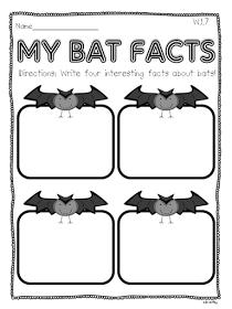 Crazy for First Grade: {{{{BATS}}}} Informational Writing