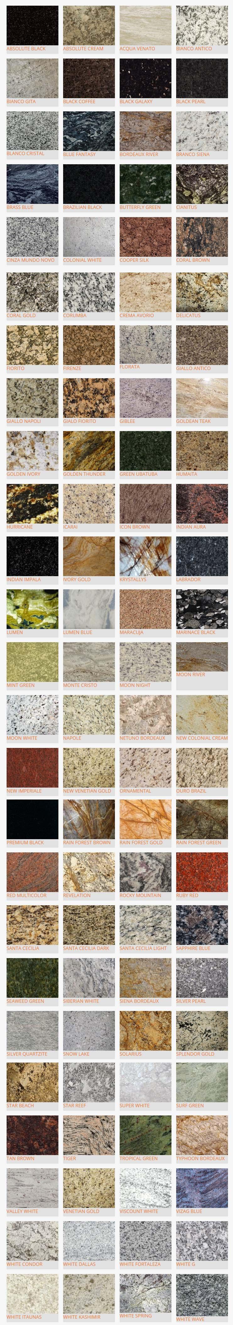 Tipos de granito http://www.cantex.mx/materiales.php?familia=1 ...