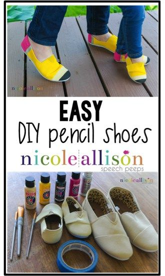 571533da0abf91 Easy DIY Pencil Shoes to add to your teacher clothing and accessories!