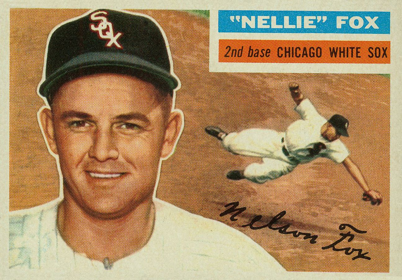 1956 Topps Nellie Fox With Images Old Baseball Cards Baseball Card Values Baseball Cards
