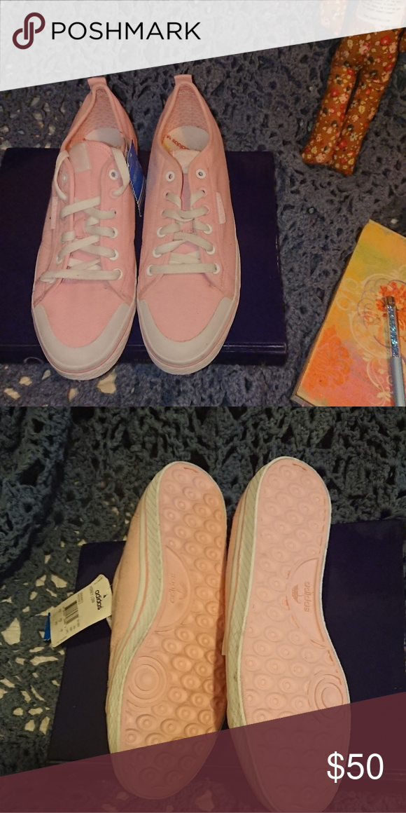 7df7214d517c CCO NWT Adidas shoes ladies 11 Pink canvas shoes. Looks dusty to me ...