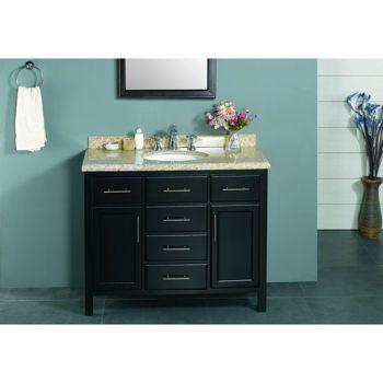 New waves malibu 42 single sink vanity things i 39 d love for Master bathroom vanity single sink