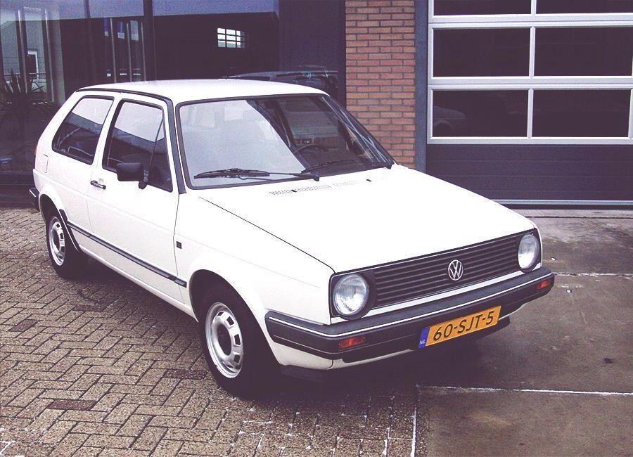 My first car - alpine white golf mk2 | Golf\'s | Pinterest | Golf ...