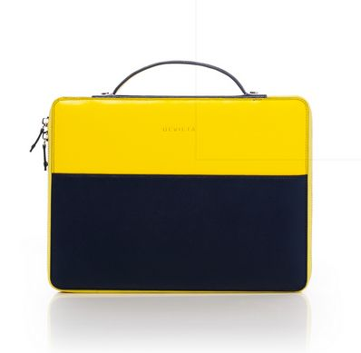 Navy & Yellow Coco i Pad carry bag
