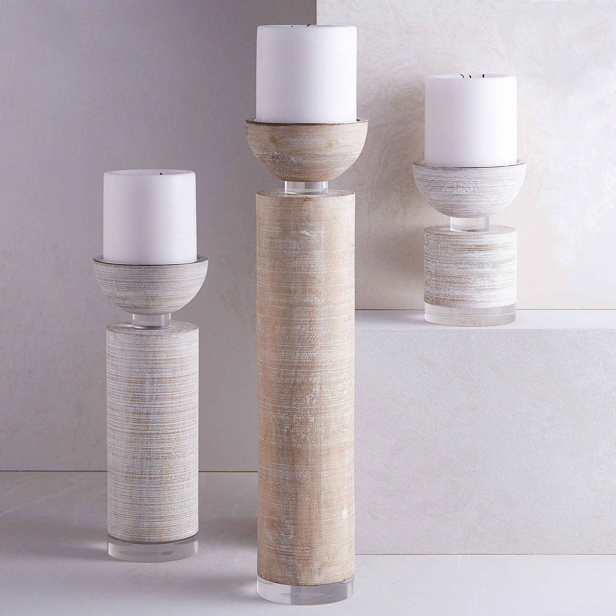 Pillar wood candle holder products pinterest products