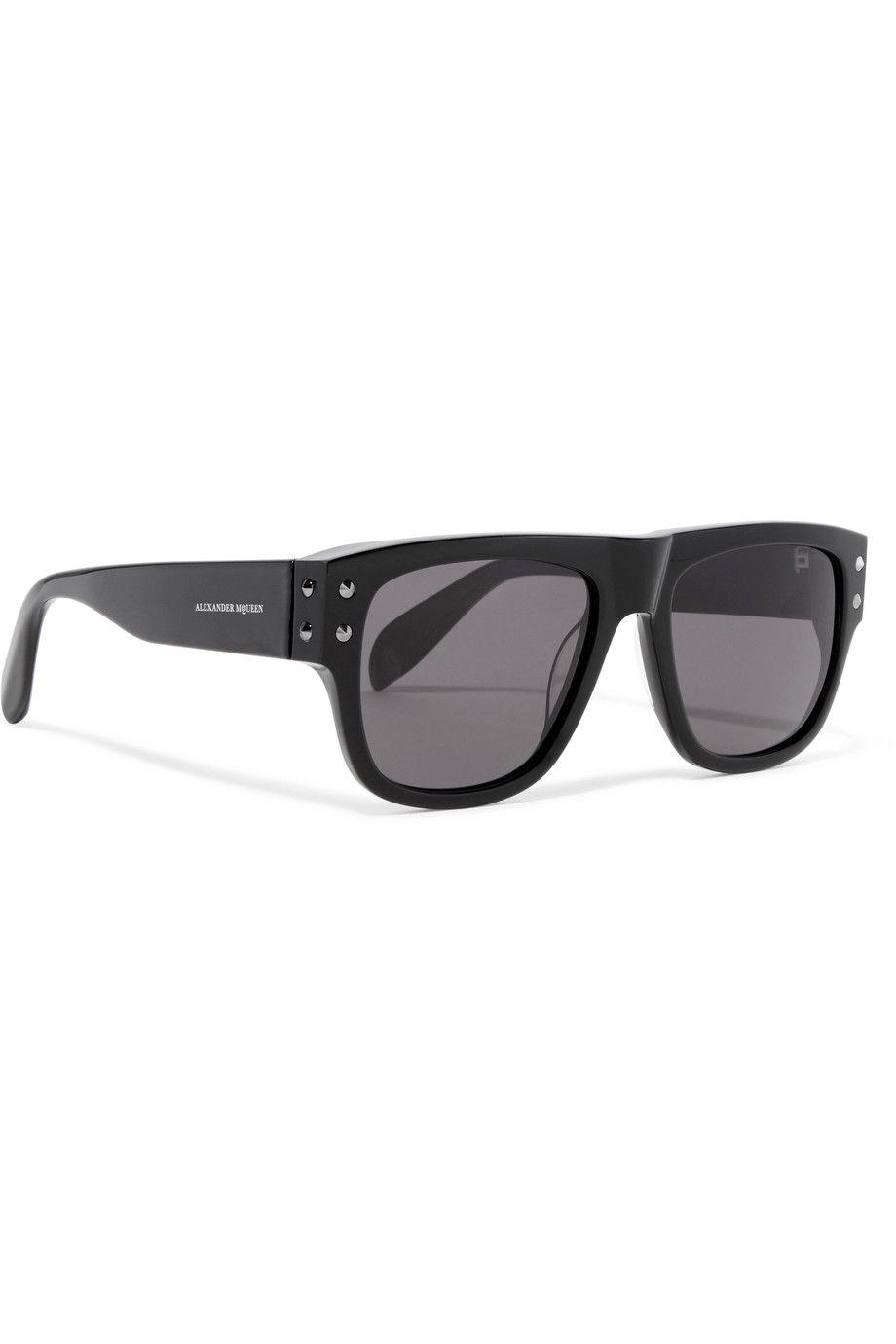 Alexander McQueen | Embellished D-frame acetate sunglasses | NET-A ...