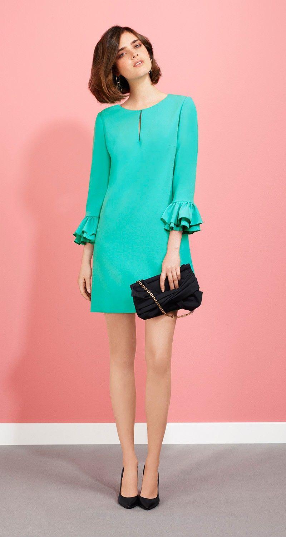 Robe en crêpe envers satin | Prêt à porter | Pinterest | Moda ...