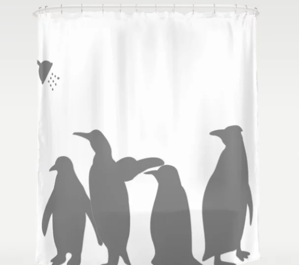 Funny Silhouette Shadows Shower Curtain