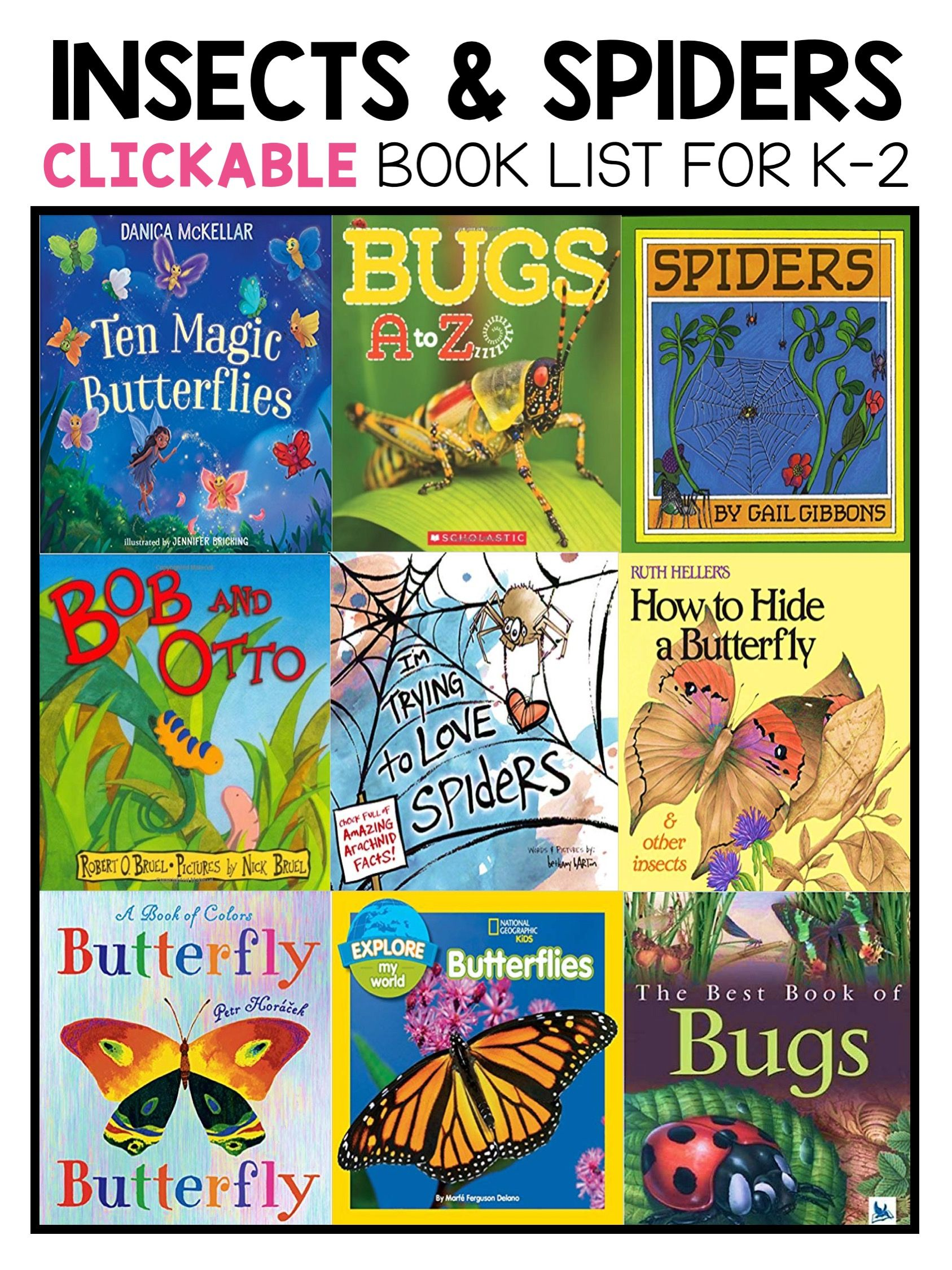 Best Bug Insect And Spider Picture Books For Kindergarten