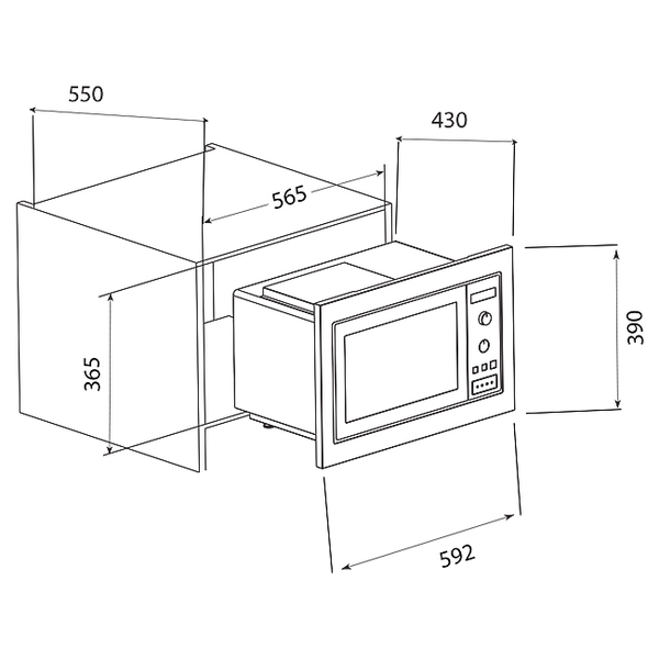 Reliable Microwave Oven Brands: ILVE 31L Built-In Microwave Oven 900W IV600FBI