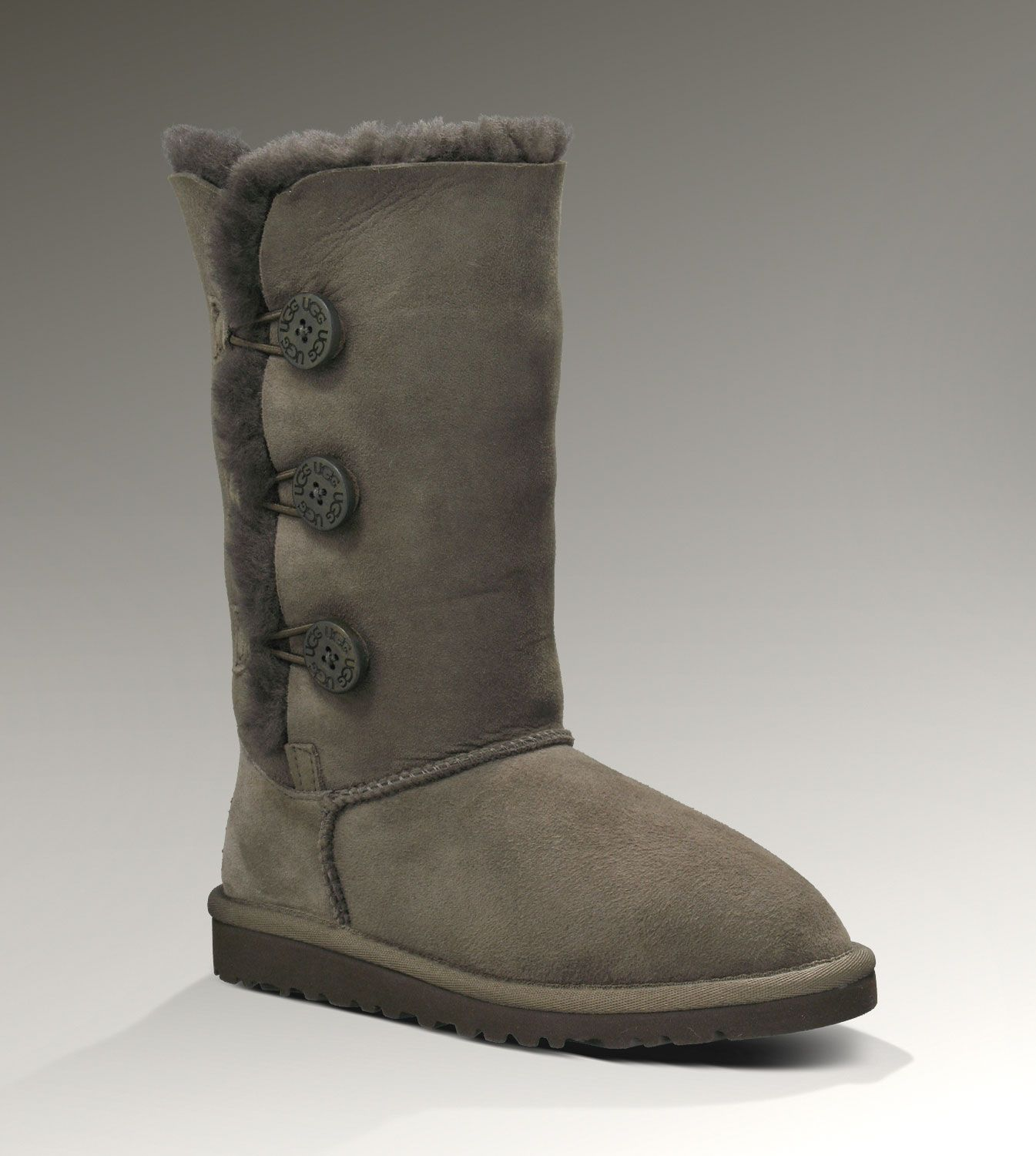 63a2a6f771ec1 UGG Triplet Bailey Button 1962 Chocolate Boots Ugg Boots Clearance