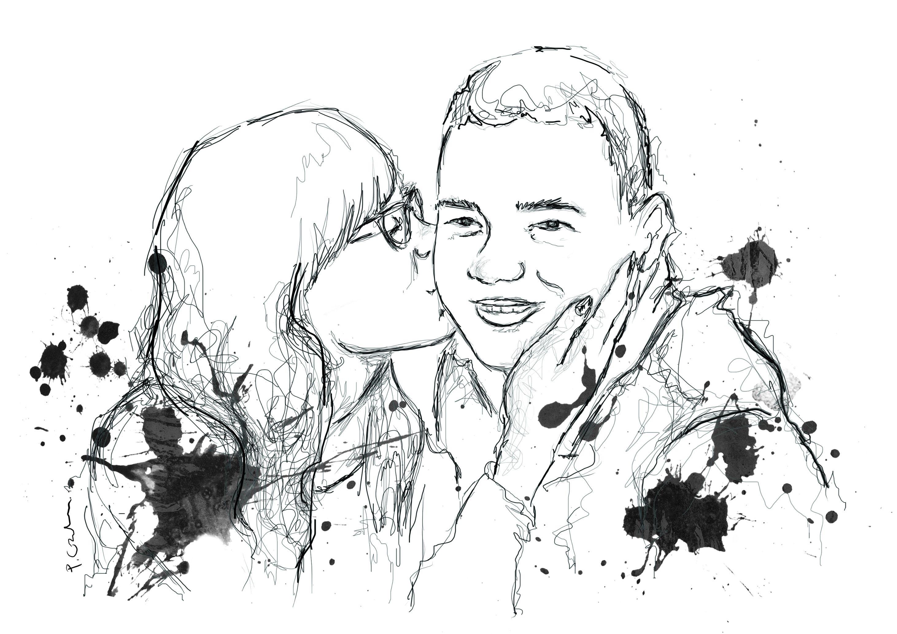 Line Art Couple : Couple love draw girlfriend boyfriend drawing мγ