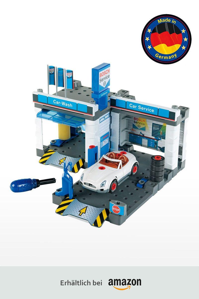 Theo Klein - BOSCH Spielzeug Autowerkstatt mit Waschstraße ...