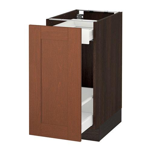 Sektion Base Cabinet With Pull Out Storage White Maximera Bodbyn Gray 15x24x30 Ikea Base Cabinets Ikea Storage