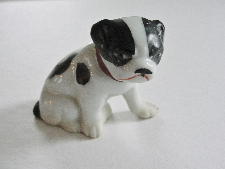 Vintage Ceramic Dog Figurine Made In Japan Bulldog Figurine Porcelain Dog Animal Figurines