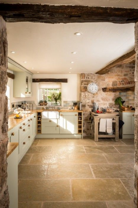 Large tiles and natural stone | Humble House and Home | Pinterest ...