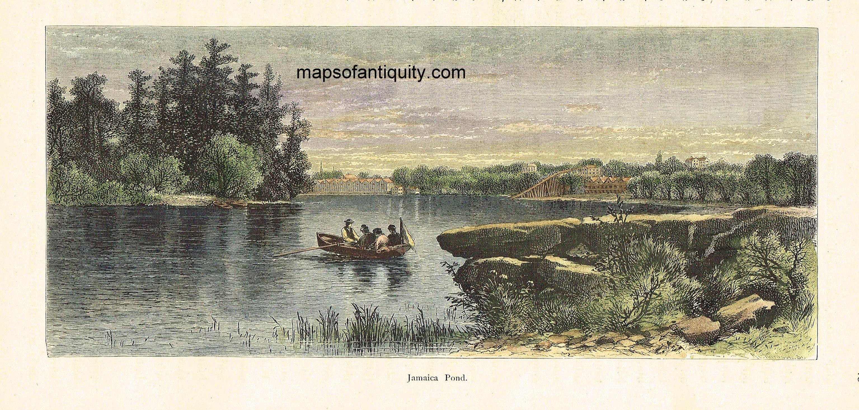 AntiqueMapJamaicaPond Jamaica Plain Boston Massachusetts Maps