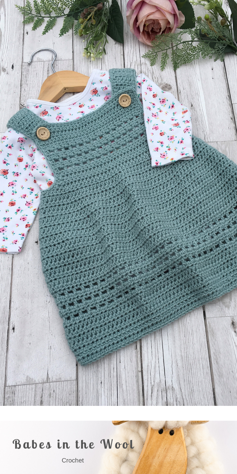 Crochet Pattern Baby Dress / Pinafore - newborn to 24 months