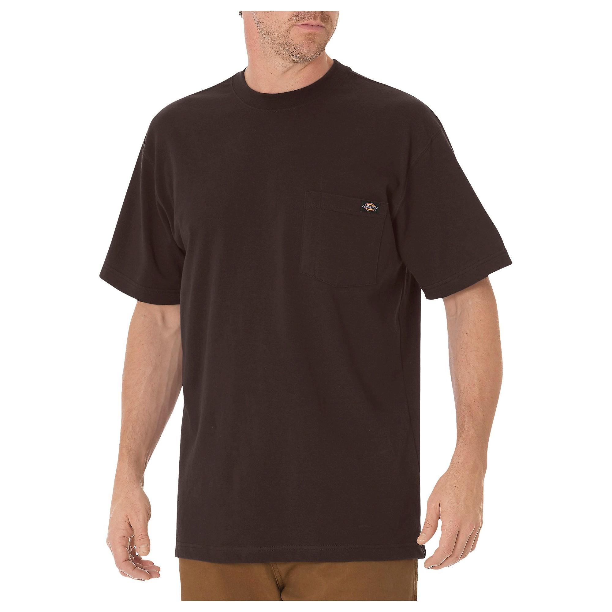 a93bbb733d8d54 Dickies Men s Big   Tall Cotton Heavyweight Short Sleeve Pocket T-Shirt-  Chocolate Brown L Tall