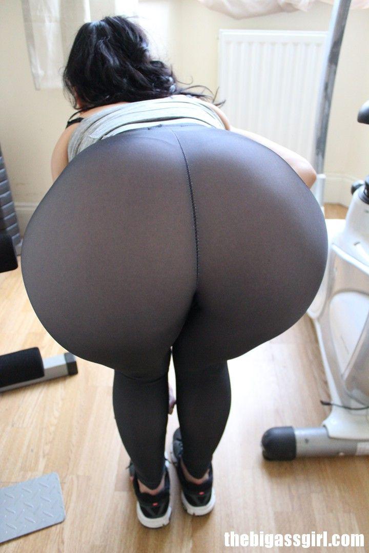 Big Ass Spandex Booty Workout Lycra Leggings Brunette