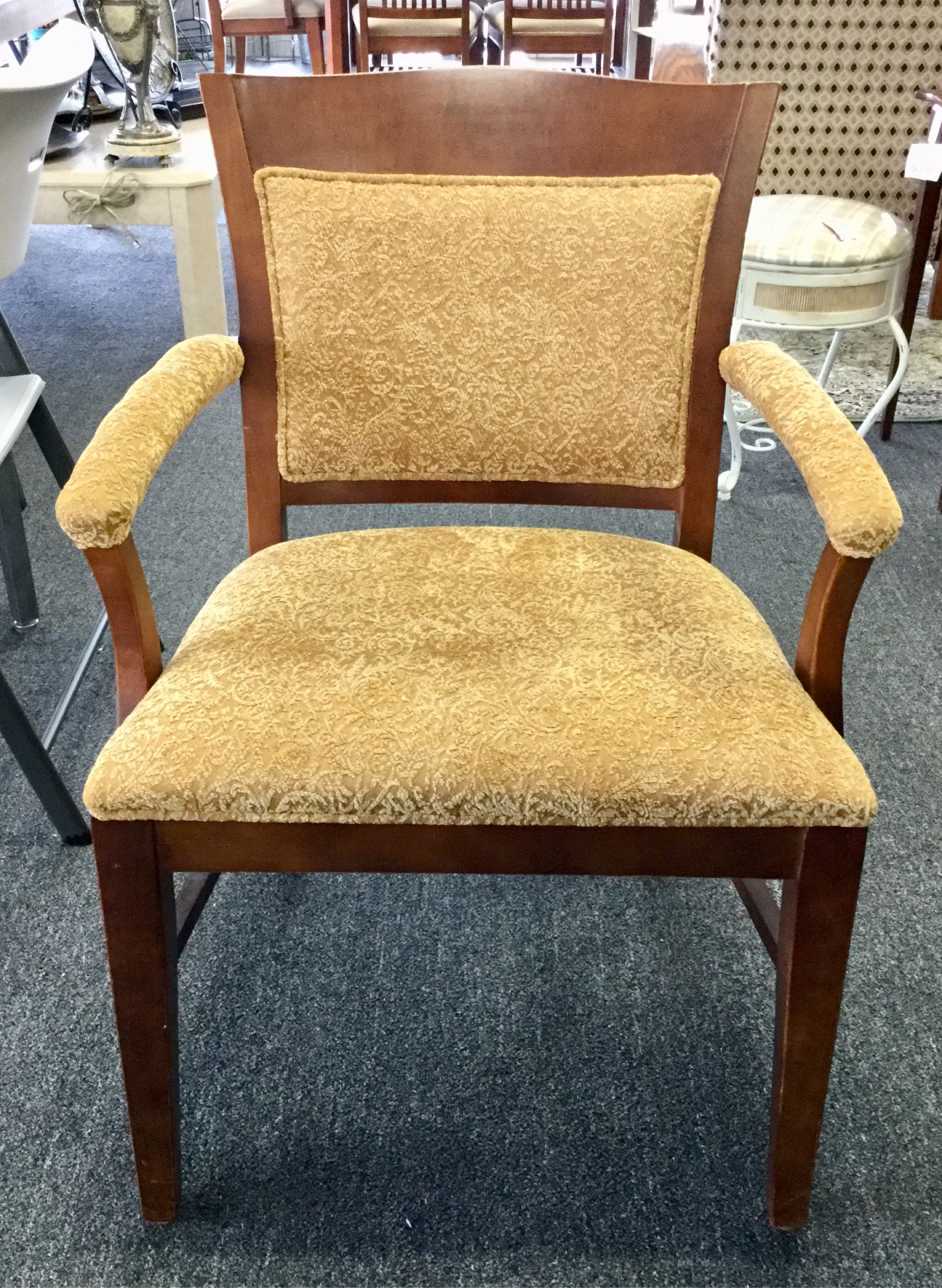 Gold upholstered chair upholstered chairs dining chairs