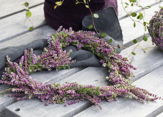 Photo of Slik lager du krans og hjerte av lyng | Inspirasjon fra Mester Grønn