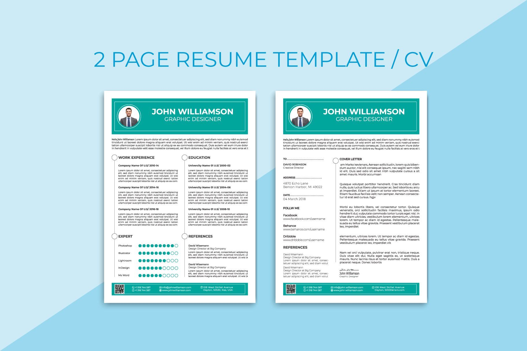 Resume Template Cv Resume Template Resume Templates Clean Resume Template