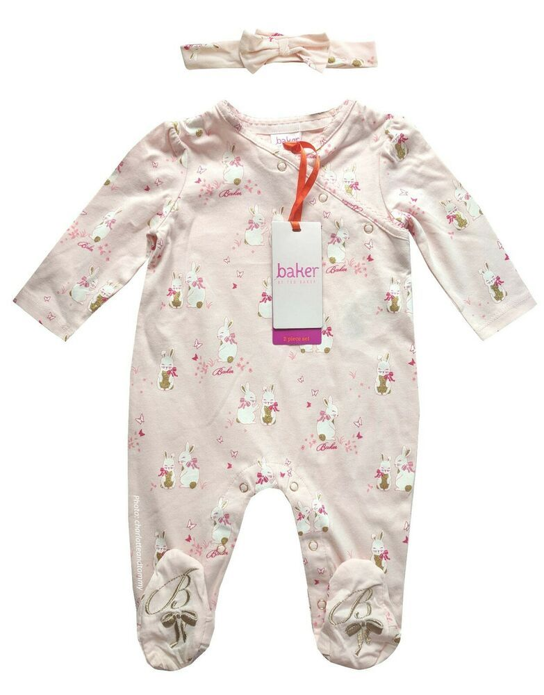 baby girls designer outfit newborn 0 3 6 months babygrow sleepsuit pink floral
