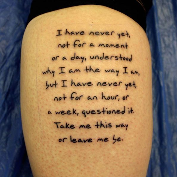 40 Awesome Text & Word Tattoo Designs