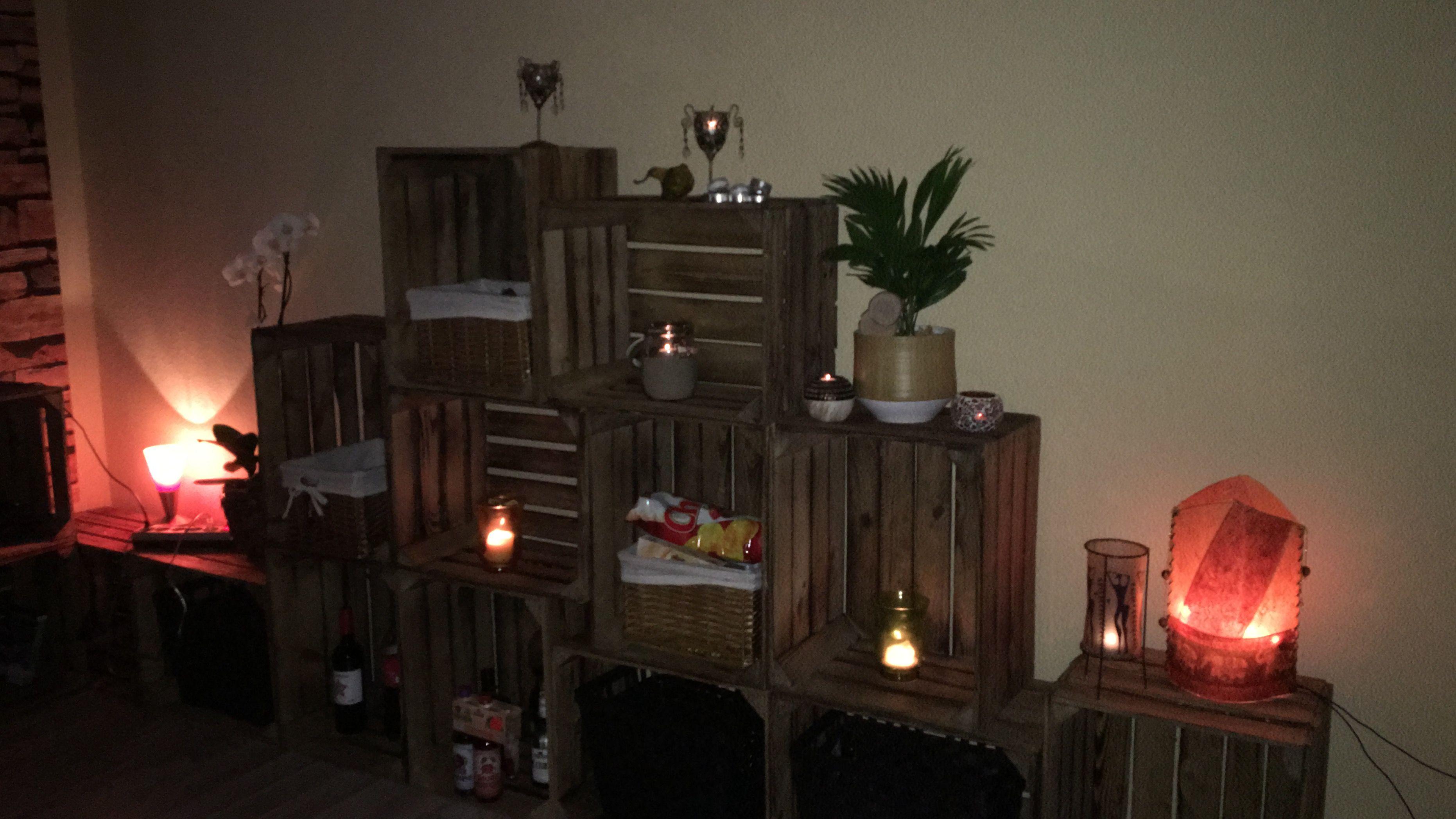 DIY Holzkisten/ Weinkisten/ Apfelkisten Regal