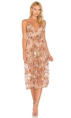 67ed6f459f8f Shop for For Love   Lemons Botanic Midi Dress in Nude Floral at REVOLVE.  Free 2-3 day shipping and returns