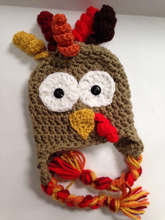 237875d9eb8 Crochet turkey hat baby turkey hat newborn by RovingRetriever