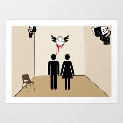 IL TEMPO VOLA Art Print by Joe Pansa - $15.98