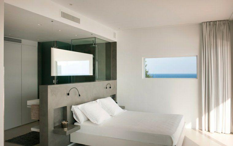 chambre avec salle de bain ouverte et dressing | Chambre adulte ...