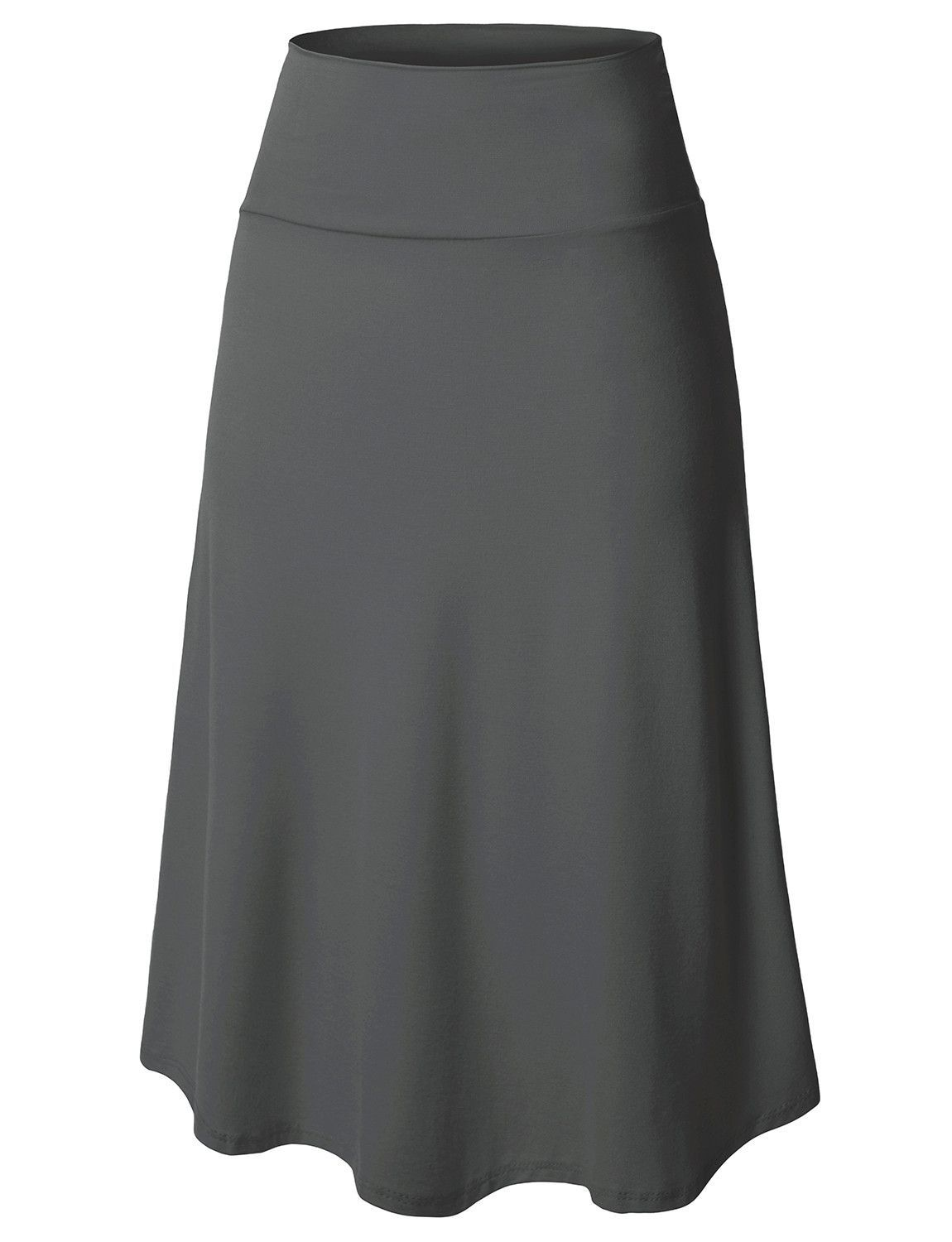 Lightweight Flared Midi Skater Skirt with Stretch (CLEARANCE) (CLEARANCE) #workattire
