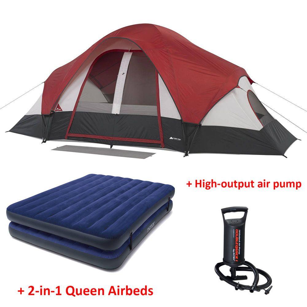 Ozark Trail 9x7 Tent & Ozark Trail 4 Person Dome Tent With ...
