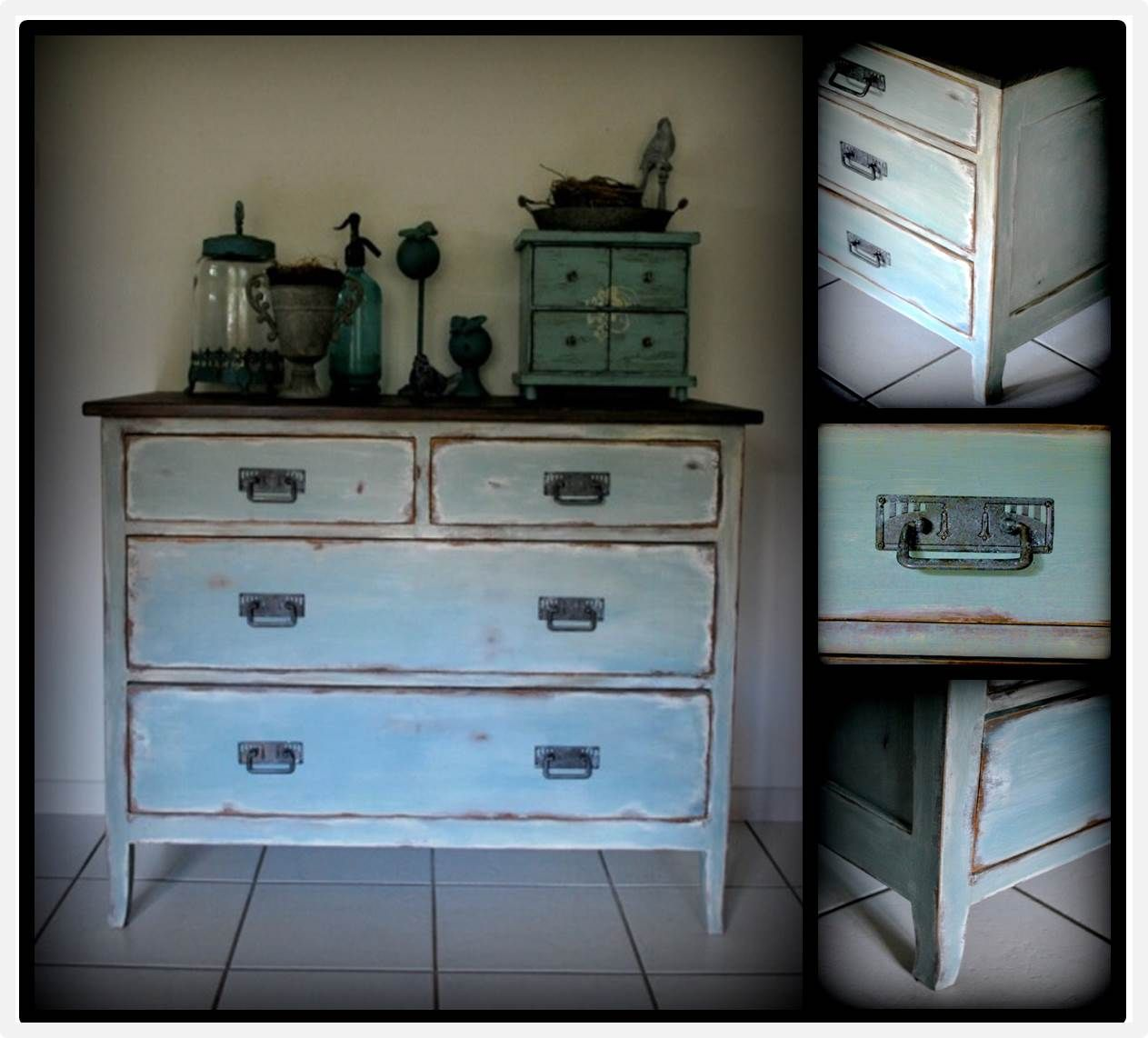 Kommode Annie Sloan Chalkpaint (Duck Egg Blue, French Linen, Old ...