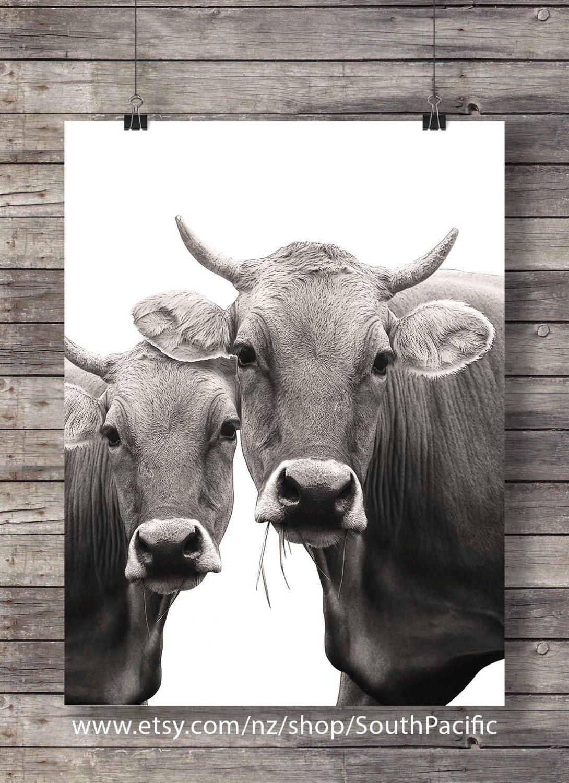 Printable art cow art print cute cow face sepia cow photo
