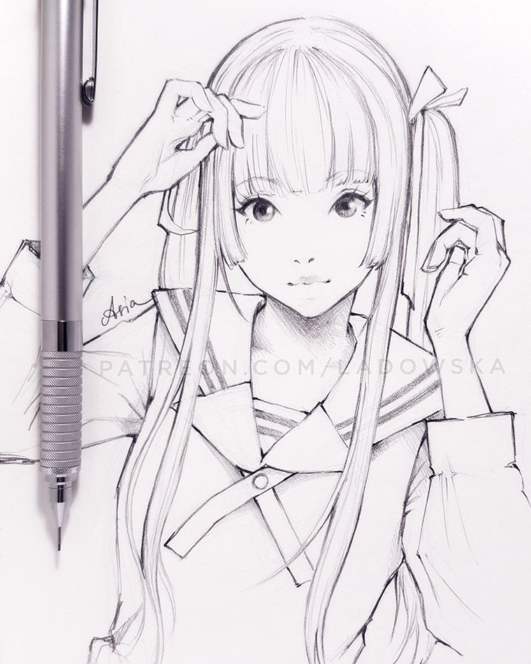Dessin Manga Fille Ecoliere Mignonne By Ladowska Idees