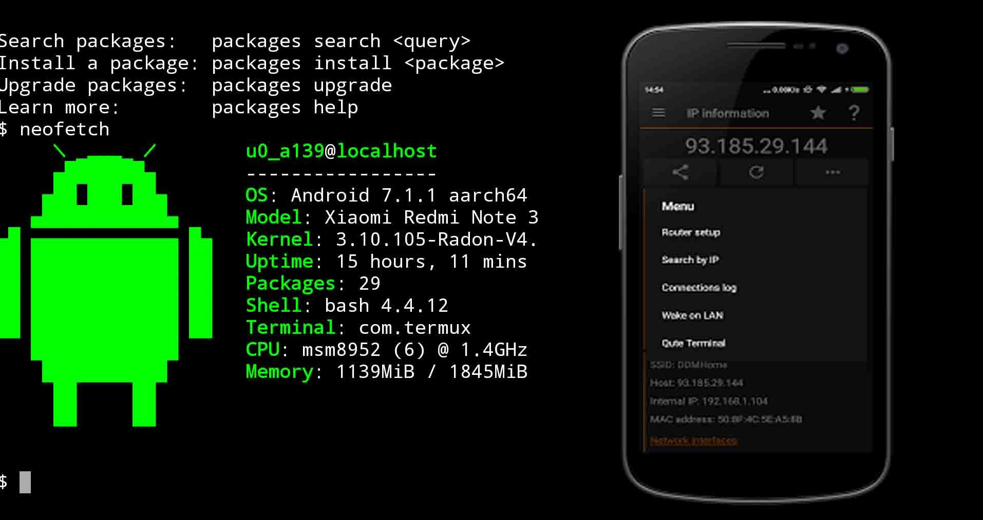 Find the Location Of IP Address Using Termux Android App